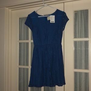 Coincidence & Chance Blue Lace Dress